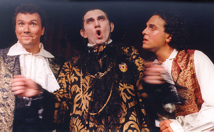 Bill in The Gondoliers 1998 — 'Don Alhambra', with Ronald S. Herman — 'Marco', and Gerald S. Gombatto — 'Giuseppe'