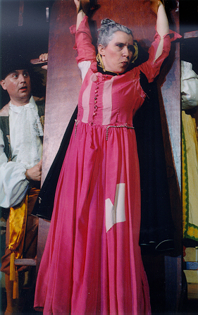 Sam in The Gondoliers 1998, with Amanda Lobaugh — 'Inez'