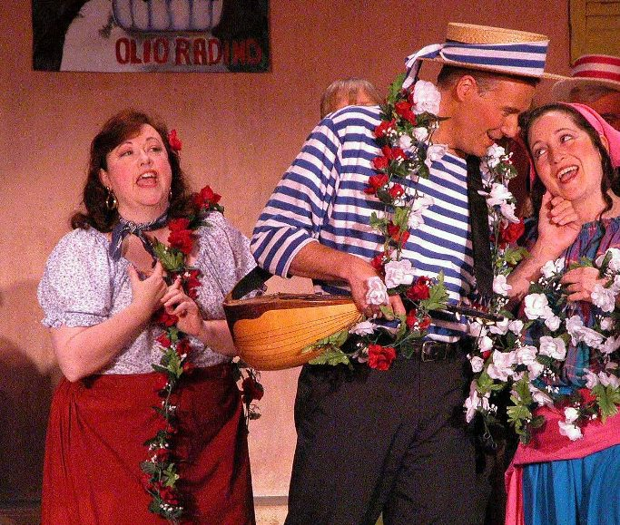 Kathy in The Gondoliers 2005, with Ronald S. Herman — 'Marco', and Carla Cogliandro