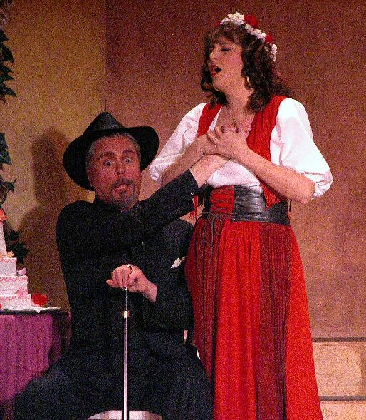 Marty in The Gondoliers 2005 — 'Don Alhambra', with Kathy Perconti — 'Gianetta'