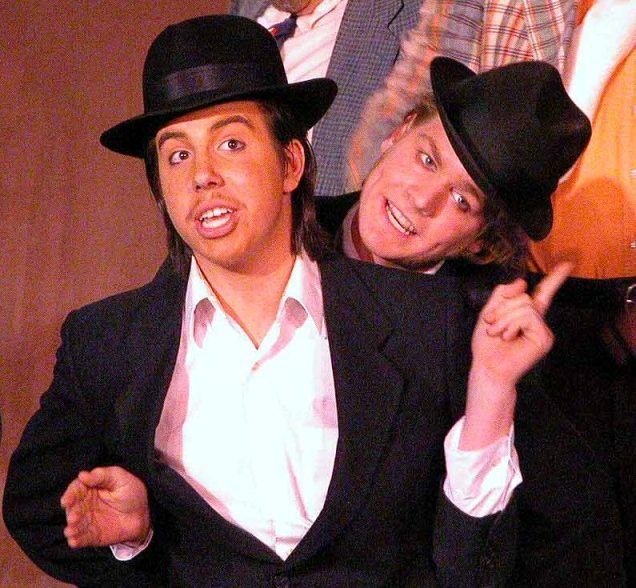 Chris in The Gondoliers 2005 — 'Colombo', with Ethan DePuy — 'Guilo'