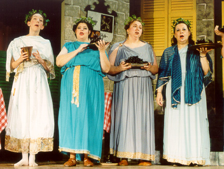 Laurel in The Grand Duke 2001, with Lilah Crews-Pless, Maureen Odgers, and Shirley Ann Miller