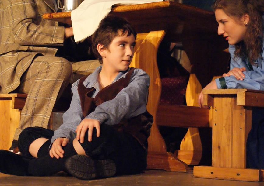 Marshall in A Gilbert & Sullivan Christmas Carol 2008 — 'Peter Cratchit', with Elizabeth Amato — 'Belinda Cratchit'
