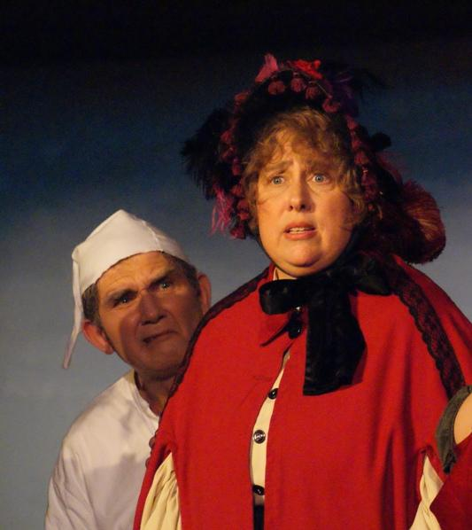 Suzanne in A Gilbert & Sullivan Christmas Carol 2008, with Bill Hammond — 'Scrooge'