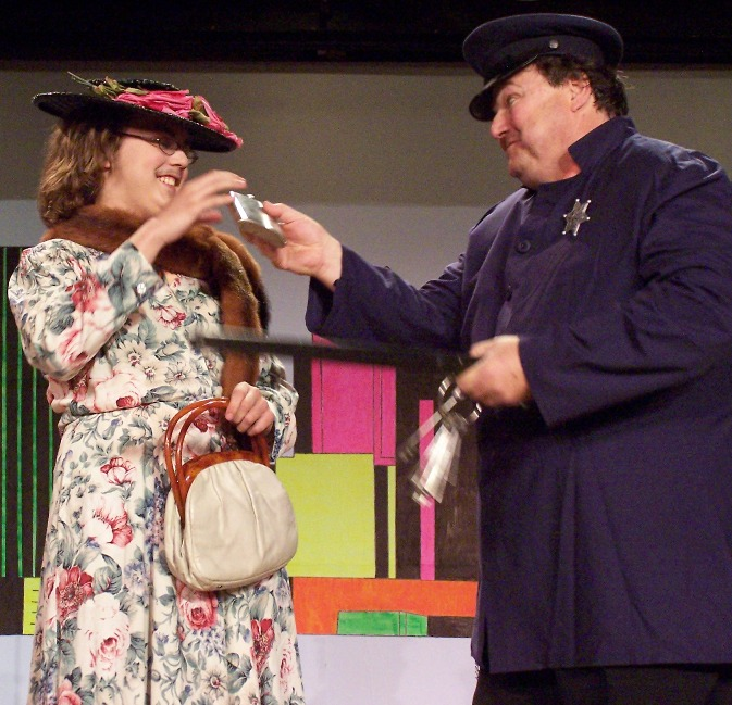 Bob in Hot Mikado 2007, with Forrest Kelley