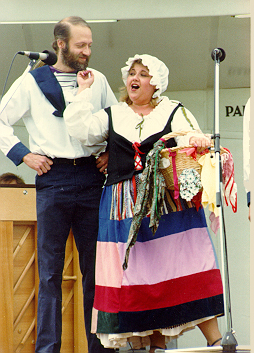 Barbara in HMS Pinafore 1986 — 'Little Buttercup', with Terry Benedict