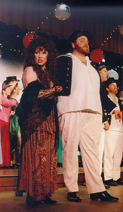 Sarajane in HMS Pinafore 1997 — 'Little Buttercup', with Joel Hume — 'Captain Corcoran'