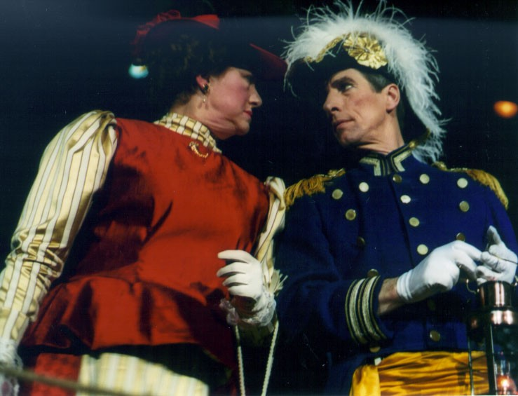 Lynette in HMS Pinafore 2002 — 'Cousin Hebe', with J. Patrick Adams — 'Sir Joseph Porter'