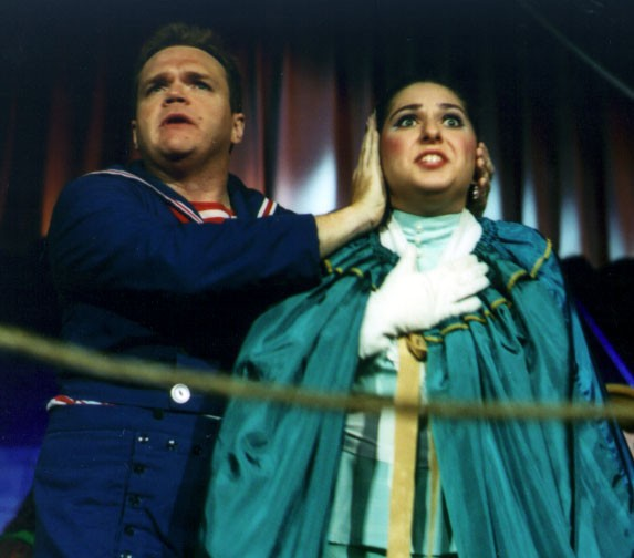 Holly in HMS Pinafore 2002 — 'Josephine', with Jad Jordan — 'Ralph'