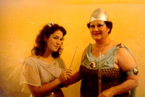 Esther in Iolanthe 1981 — 'The Queen of the Fairies', with Martha Vail.