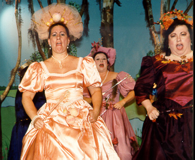 Kathy in Iolanthe 1996, with Diana Sheffer and Lynette Blake