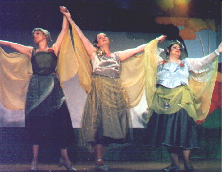 Laurel in Iolanthe 2004, with Suzanne Bell and Penny Fram