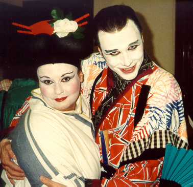 Ron in The Mikado 1989 — 'Nanki-Poo' with Patricia A. Montrois