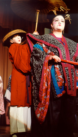 Lilah in The Mikado 2000, with Kimberly McConnell — 'Katisha'