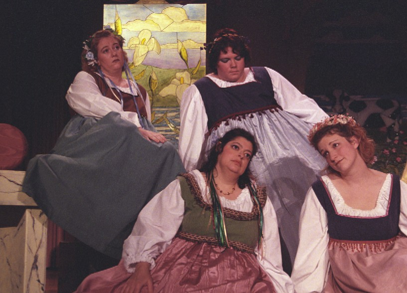 Tania in Patience 2003, with Ginette Richard, Laurel Schneiderman, and Kim McDonald