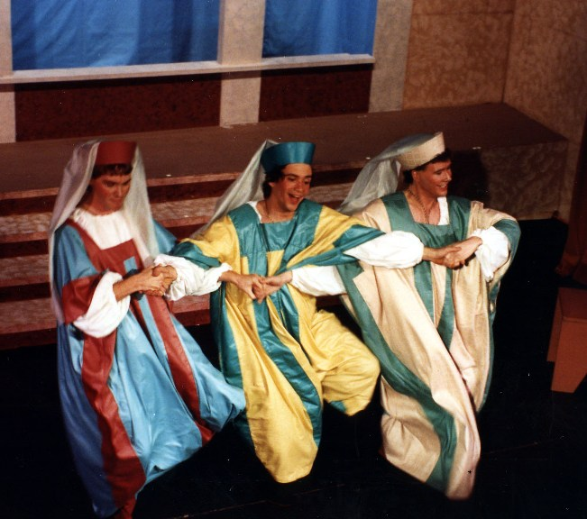 Scot in Princess Ida 1990 — 'Florian', with Brad Gundlach — 'Cyril', and Ronald S. Herman — 'Hilarion'
