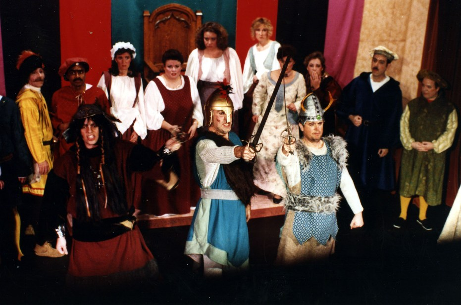 John in Princess Ida 1990 — 'Guron', with Brian Smith — 'Arac', and David Schafer — 'Scynthius'