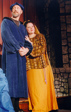 Paula in Princess Ida 1997, with Terry Benedict