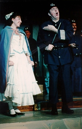 David in The Pirates of Penzance 1994 — 'Sergeant', with Susanna Adams — 'Mabel'