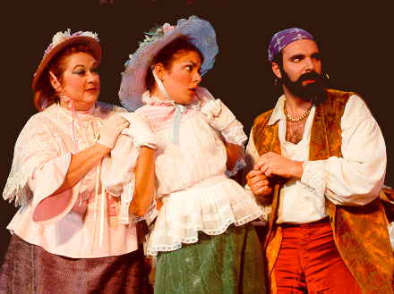 Stuart in The Pirates of Penzance 2000, with Beth Holliday — 'Kate', and Andrea Stith — 'Edith'