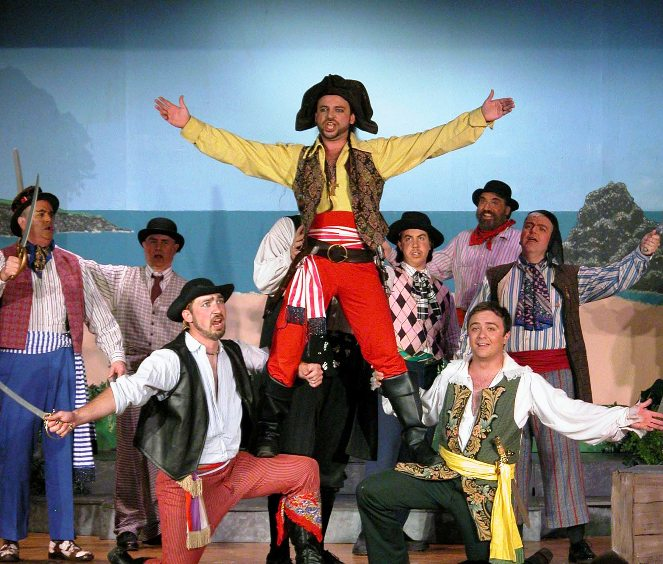 Kurt in The Pirates of Penzance 2006 — 'The Pirate King', with David Schafer, Sam Nelson, Robert D. Gorski, Christopher Adams, Sean Brabant, Chris Haller, and David Raymond