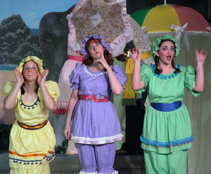 Amanda in The Pirates of Penzance 2006 — 'Kate', with Megan Rast — 'Edith' and Rachel Pasternak — 'Isabel'