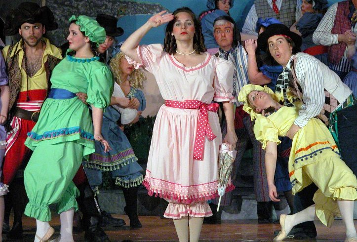 David in The Pirates of Penzance 2006, with Kurt Griffen — 'Pirate King', Rachel Pasternak — 'Isabel', Jennifer Gliere — 'Mabel', Megan Rast — 'Edith', and Christopher Adams — 'Samuel'