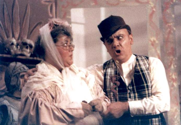 Barbara in Ruddigore 1987 — 'Dame Hannah', with Mike Bellavia — 'Sir Roderick'