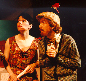 Tracy Burdick in Ruddigore 1993, with Amanda Lobaugh