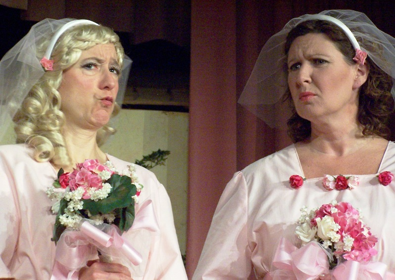 Karen in Ruddigore 2006, with Suzanne Bell
