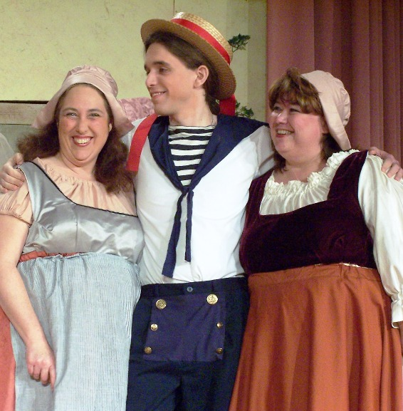 Julia in Ruddigore 2006, with Suzanne Rath and Stephen Naum