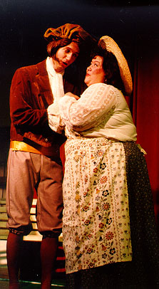 Ted in The Sorcerer 1993, with Julia Ferreira