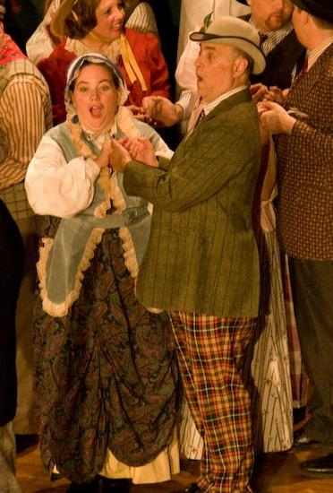 Sam in The Sorcerer 2007, with Tamara Kelley