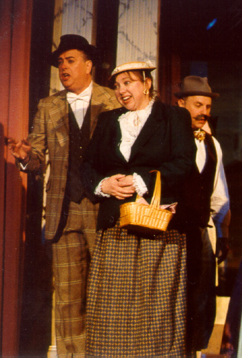 Maureen in Thespis 2002, with David Schafer — 'Tipseion', and Sam Nelson
