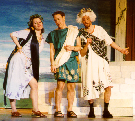 Amanda in Thespis 2002 — 'Daphne', with Jeffrey Alan Miller — 'Sparkeion', and Ted Benedict — 'Thespis'