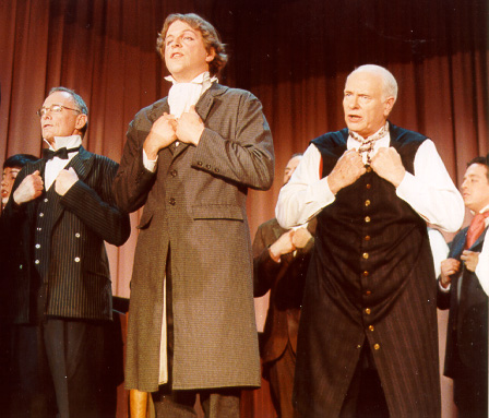 Terry in Trial By Jury 2001, with Alex Richardson and Scott Wagner