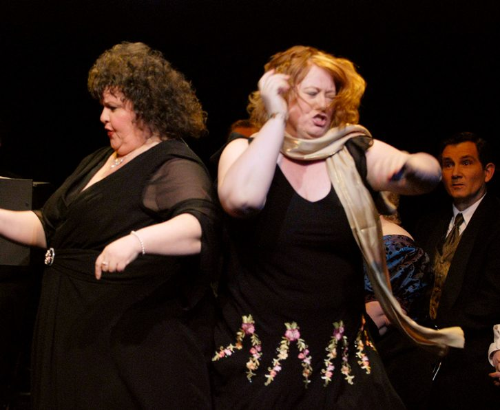 Tania in Very Truly Yours, Gilbert & Sullivan 2008, with Patricia A. Montrois