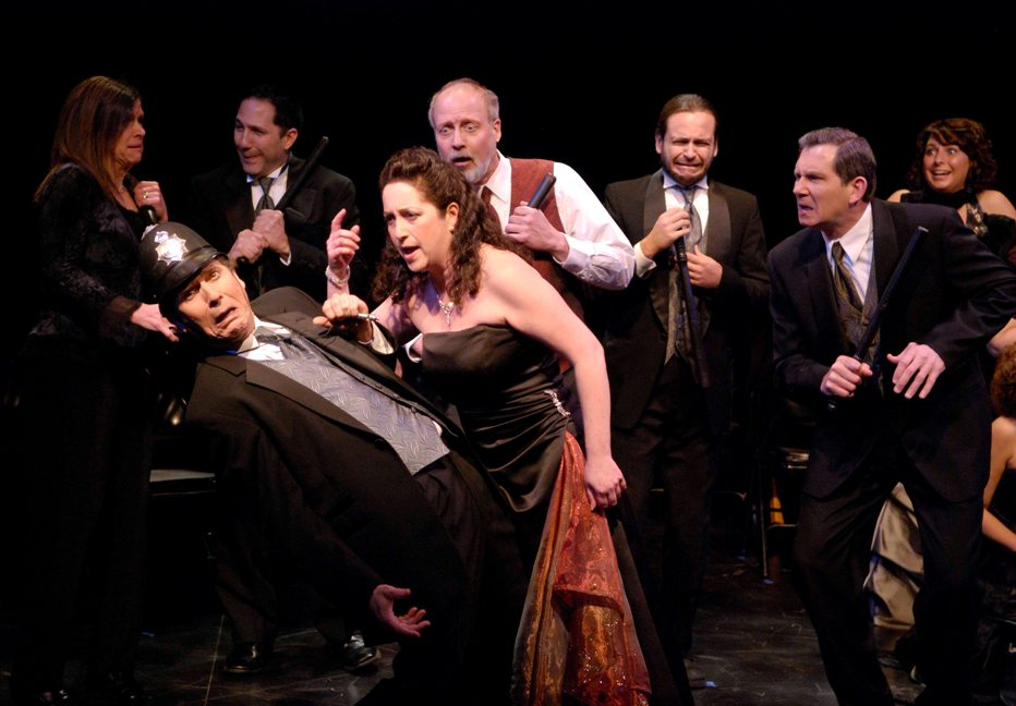 Carla in Very Truly Yours, Gilbert & Sullivan 2008, with Ann Rhody, Albert Young, Jr., Edward Medina-Torres, Terry Benedict, Kurt Griffen, Bill Hammond, and Holly Thérèse Corcoran