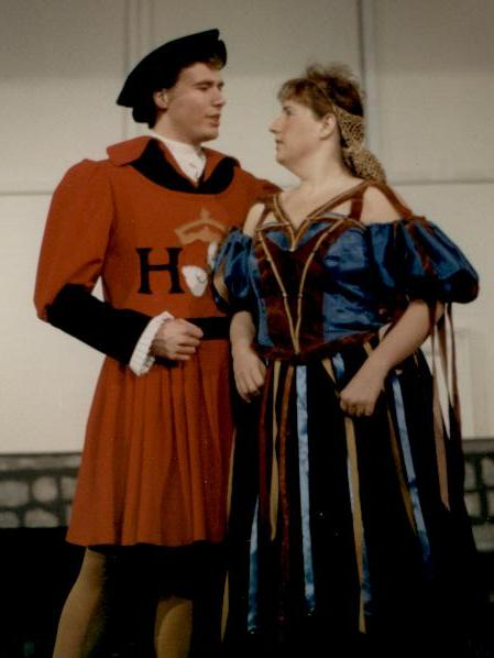 Ron in The Yeomen of the Guard 1988 — 'Colonel Fairfax', with Anne Virgil — 'Elsie Maynard'