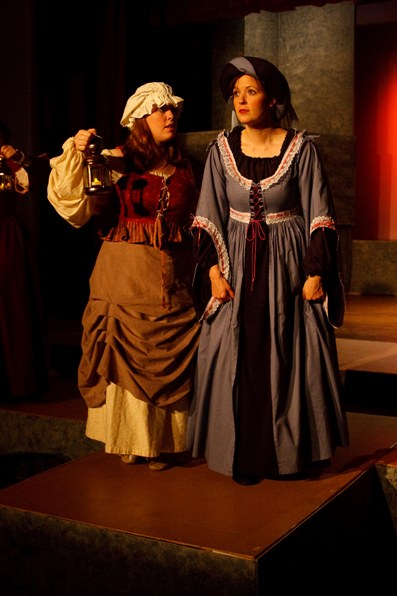 Emily in The Yeomen of the Guard 2009, with Karen Karnisky — 'Kate'